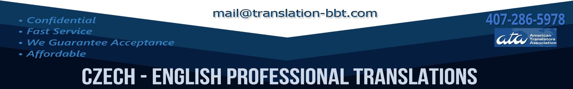 Czech English Translation: Financial, Medical, Documents