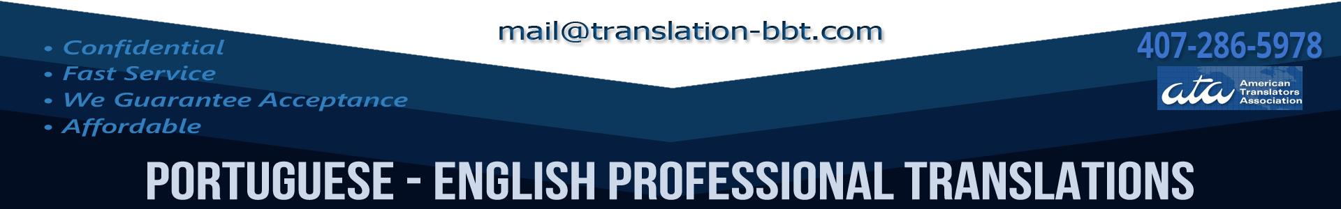 Portuguese English Translation: Financial, Medical